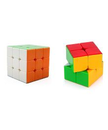 Emob 2x2 Rubik Cube Plus 3x3 Puzzle Combo Multicolor - Pack Of 2