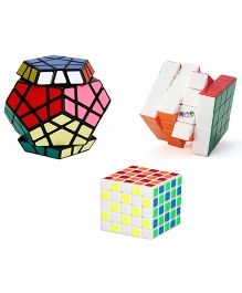 Emob Megaminx Plus 4x4 And 5x5 Rubik Cube Puzzle Multicolor - Pack Of 3