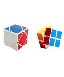 Emob 2x2 Rubik Plus Skewb Cube Puzzle Combo Pack Of 2 - Multicolor