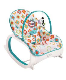 Flyers Bay Fiddle Diddle Bouncer Cum Rocker With Lion Print - Multi Color White