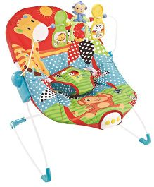 Flyers Bay Fiddle Diddle Baby Bouncer Cum Rocker Zebra Print - Multi Color