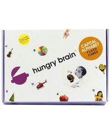 Hungry Brain Capital Alphabets Flash Cards - Multi Color