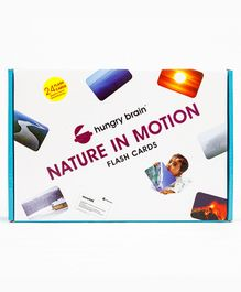 Hungry Brain Nature In Motion Flash Cards - Multi Color