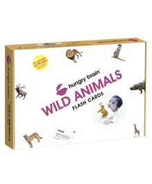Hungry Brain Wild Animals Flash Cards - Multi Color