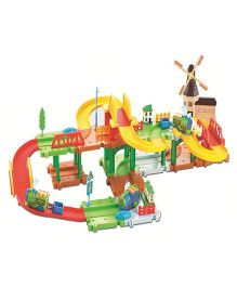 Saffire Mega Windmill 24 Train Set With Music And Lights Multi Color - 52 pieces