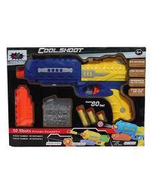Saffire Gun With Jelly Shots And Soft Foam Bullets - Blue Yellow