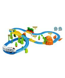 Saffire Big Train Set With Flyover And Light Effects Multi Color -