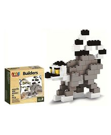 Webby Play and Create Monkey Builders Block Set Multi Color - 91 Pieces