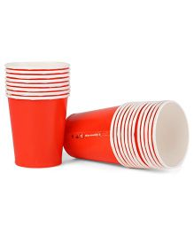 Karmallys Paper Cups Polka Pack of 20 - Red