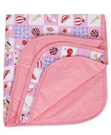 1st Step Water Proof Changing Mat Teddy Print - Pink
