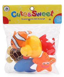 Smiles Creation Squeeze Bath Toys Multi Color - Pack Of 6