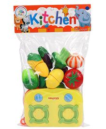 Smiles Creation Vegetable Set Toy Multi Color - Pack Of 14