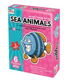 Braino Kids My First Jigsaw Sea Animals - Pink