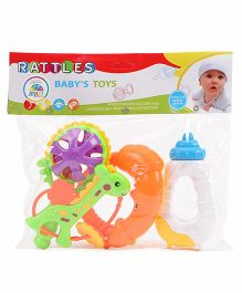 Smiles Creation Rattle - Set Of 4 (Color May Vary)