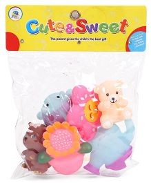 Smiles Creation Squeeze Bath Toys - Pack Of 6