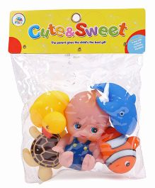 Smiles Creation Squeeze Bath Toys Big Size Pack Of 5 - Multicolor