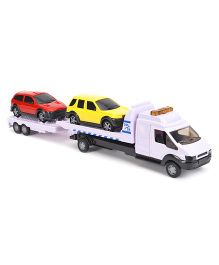 John World Rescue Car Transporter Truck Assortment - White