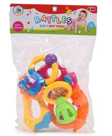 Smiles Creation Squeeze Toys & Rattle Set Of 5 (Color May Vary)