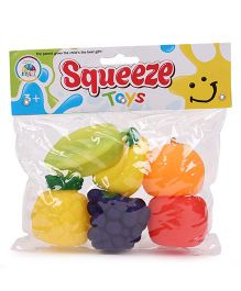 Smiles Creation Fruit Shape Squeeze Bath Toys Pack Of 6 - Multicolor