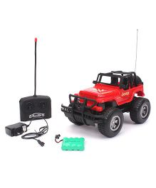 Remote Control Military Toy Jeep - Red