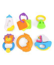 Smiles Creation Rattle Set Of 6 (Color May Vary)
