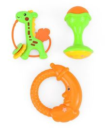 Smiles Creation Squeeze Toys & Rattle Set Of 3 (Color May Vary)