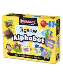 Green Board BrainBox Alphabet Jigsaw Puzzle Multicolor - 25 Pieces