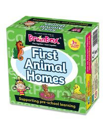 Green Board BrainBox First Animal Homes Card Game - Multicolor