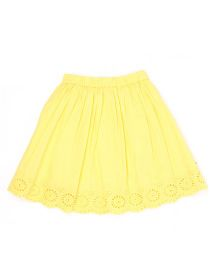 Pepe Jeans Embroidered Casual Skirt - Yellow