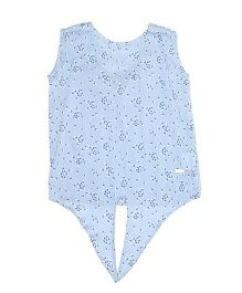 Pepe Jeans Sleeveless Dots Print Top - Blue
