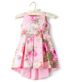 Nitallys Floral Dress With A Bow - Pink