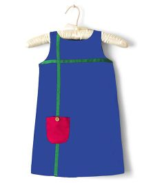 Nitallys A Line Dress With Front Pocket - Blue