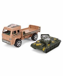 Grv Army Truck and Tank - Brown And Green