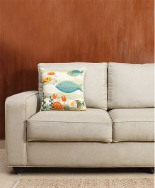 HouseThis The Alert Crab Pure Cotton Cushion Cover - Multicolor