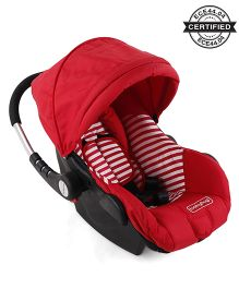 Babyhug Take Me Along Car Seat Cum Carry Cot With Rocker - Red