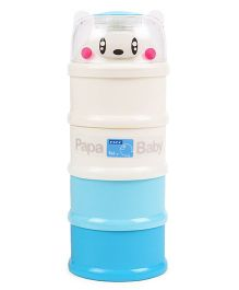 Papa Milk Container - Blue White