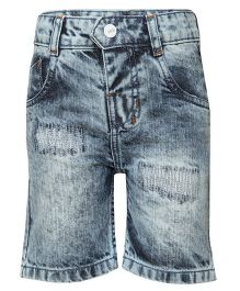 Tales & Stories Denim Three Fourth Shorts - Light Blue