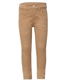Tales & Stories Printed Full Length Trousers - Light Brown