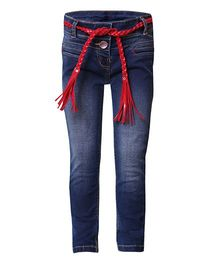 Tales & Stories Skinny Jeans With Belt - Blue