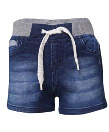 Tales & Stories Shorts With Drawstring - Blue