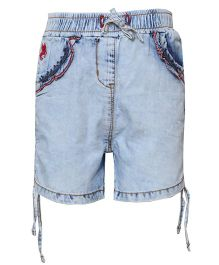 Tales & Stories Shorts With Drawstring - Light Blue
