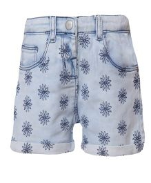 Tales & Stories Shorts Floral Print - Blue