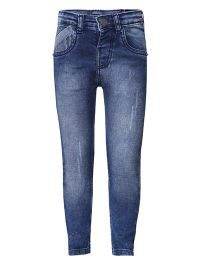 Tales & Stories Wash Design Narrow Fit Jeans - Blue