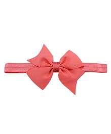 Angel Closet Cute Bow Headband - Coral