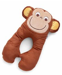 Baby Neck Support Pillow Monkey Design - Brown
