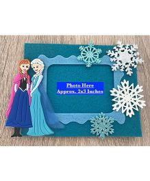 Kalacaree Princess & Snowflake Theme Magnetic Photo Frame - Blue