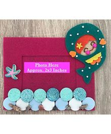 Kalacaree Mermaid Theme Magnetic Photo Frame - Magenta