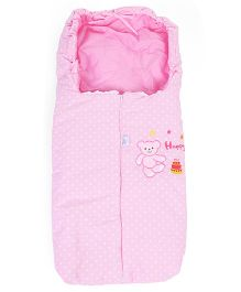 Montaly Sleeping Bag Bear Print - Pink