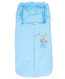 Montaly Sleeping Bag Bear Print - SkyBlue