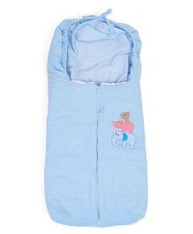 Montaly Sleeping Bag Animal Embroidery - Blue